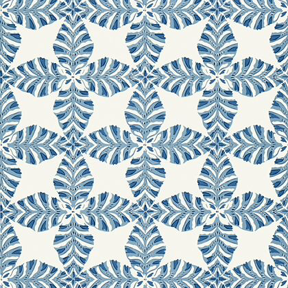 Thibaut Starleaf  Wallpaper in Blue