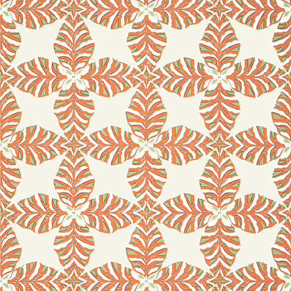 Thibaut Starleaf  Wallpaper in Orange