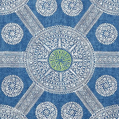Thibaut Stonington Wallpaper in Blue and Green