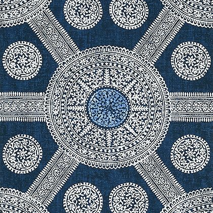 Thibaut Stonington Wallpaper in Navy