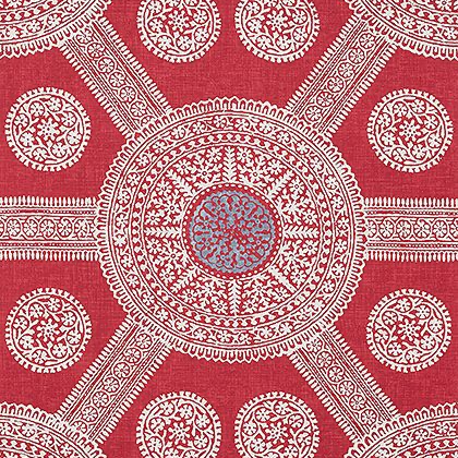 Thibaut Stonington Wallpaper in Red