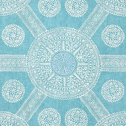Thibaut Stonington Wallpaper in Turquoise
