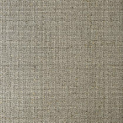 Thibaut Taza Cork Wallpaper in Charcoal