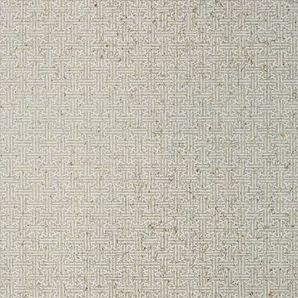 Thibaut Taza Cork Wallpaper in Light Grey