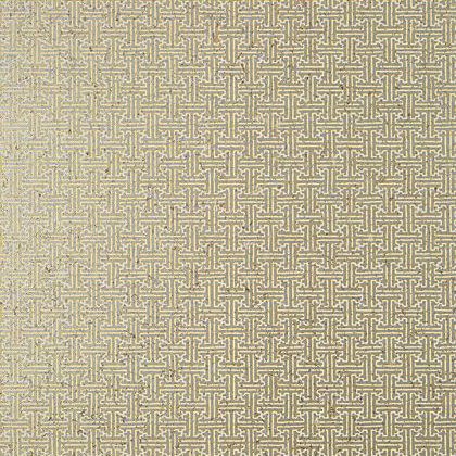 Thibaut Taza Cork Wallpaper in Metallic Gold