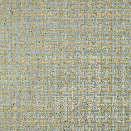 Thibaut Taza Cork Wallpaper in Metallic Gold on Aqua
