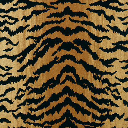 Thibaut tiger flock wallpaper in camel and black for Flock wallpaper