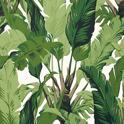 Thibaut Travelers Palm  Wallpaper in Green