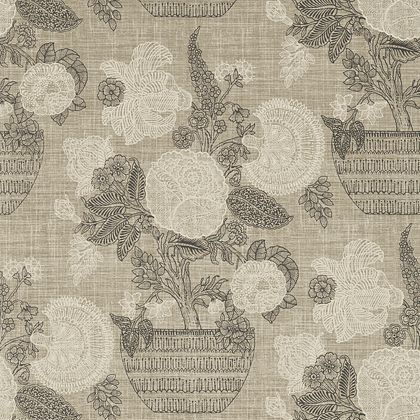 Thibaut Tullamore Wallpaper in Black and Beige