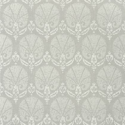 Thibaut Turkish Damask Wallpaper In Grey