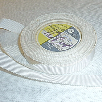 Vintage White Grosgrain 16mm ribbon.