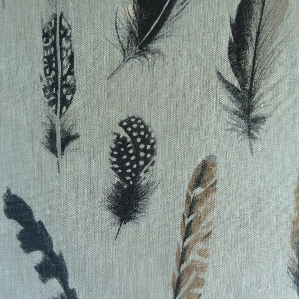 Feathers Linen Oilcloth