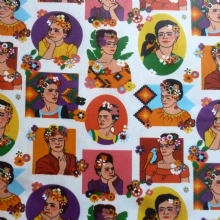 Frida Extra Wide Acrylic Coated Oilcloth