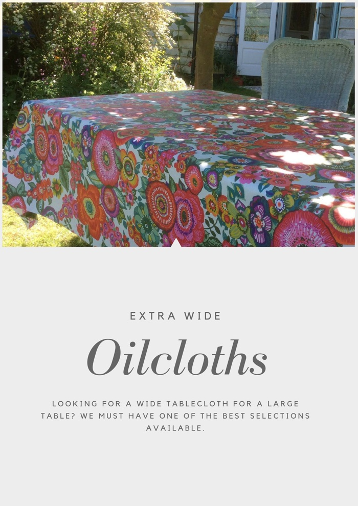 Extra wide oilcloth